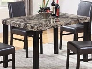 Best Master Furniture Britney Dining Table Only  Espresso
