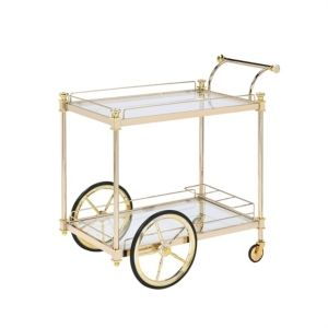 Jay Imports Plated Trolley   Missing glass shelving pieces
