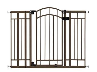 Summer Multi Use Decorative Extra Tall Walk Thru Baby Gate  Metal  Bronze Finish a 36a Tall  Fits Openings up to 28 5a to 48a Wide  Baby and Pet Gate for Doorways and Stairways