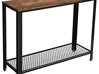 VASAGlE Console Table  Sofa Table  Metal Frame  Easy Assembly  for Entryway  living Room  Rustic Brown UlNT80X