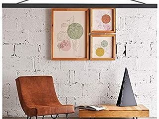 Mookgro 31x21 31x23 31x24 Black Poster Hanger  Magnetic Wooden Frame Hanging Kit for Photo Picutre Canvas Artwork Art Print Wall Hanging  1 Set  31  Color Black