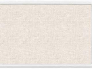 U Brands Cork linen Bulletin Board  20 x 30 Inches  White Wood Frame  2074U00 01