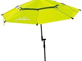 Dekero large Windproof Beach Umbrella 6 5 ft UV Protection Portable Umbrella with Sand Anchor Tilt Aluminum Pole  Carry Bag for Beach Patio Garden Outdoor Fishing