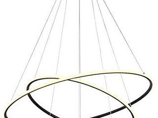 ROYAl PEARl Modern Circular Acrylic Chandelier Adjustable Three Ring Contemporary Ceiling Pendant light