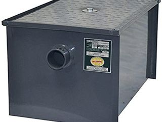 BK Resources BK GT 14 Carbon Steel 14 lbs  Capacity   7 GPM Rate Flow Grease Trap with Removable Baffles   T Vent PDI Certified