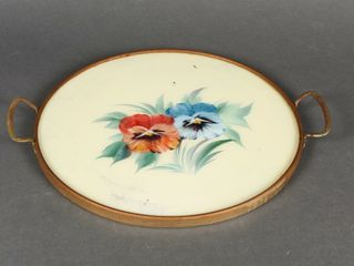 VINTAGE HAND PAINTED PANSY TRAY