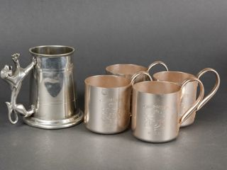 lOT OF 5  4 SMIRNOFF  MUlE  DRINKING CUPS   MUG