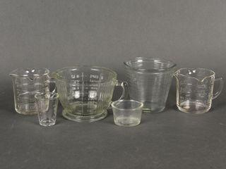 lOT OF 6 VINTAGE MEASURING CUPS
