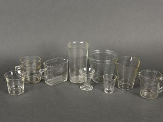 lOT OF 9 VINTAGE GlASS MEASURING CUPS