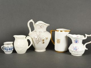 GROUPING OF 5 VINTAGE PITCHERS