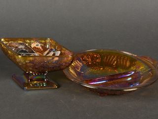 lOT OF 2 VINTAGE CARNIVAl GlASS COllECTIBlES