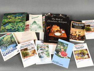 lOT OF ANTIQUE BOOKS  BUIlDING PONDS