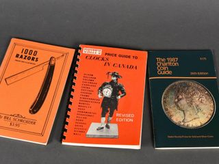 lOT 3   RAZORS  COINS   ClOCK COllECTING BOOKlETS