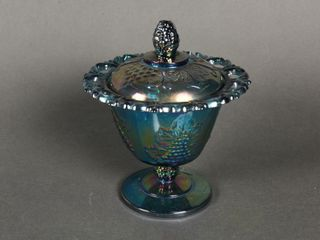 CARNIVAl GlASS COVERED BOWl