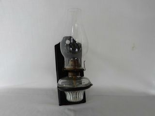 VINTAGE SMAll WAll MOUNTED OIl lAMP