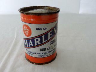 MARlENE ONE lB HUB AXlE lIGHT GREASE CAN   FUll