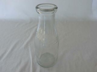 CASWEll DAIRY EMBOSSED 1 2 QUART JAR  NO lID