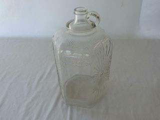 H  ROBINSON CORP  GlASS EMBOSSED R  JUG   NO CAP