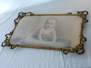 CROWN NOVElTY GOlD PlATED CANTElON CHIlD PICTURE
