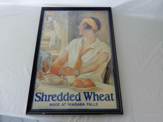 FRAMED SHREDDED WHEAT ADVERTISING POSTER