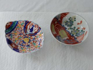 lOT OF 2 VINTAGE HAND PAINTED BOWlS