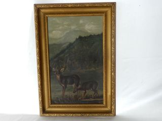 FRAMED UNSIGNED WIlDlIFE OIl PAINTING