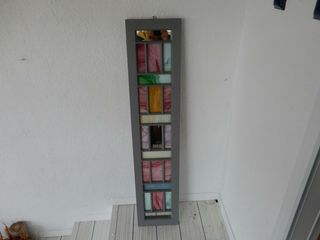 FRAMED STAIN GlASS WAll HANGING