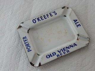 O KEEFE S OlD VIENNA BEER PORCElAIN ASHTRAY