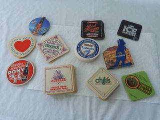 lARGE GROUPING OF BEER COASTERS     NOS