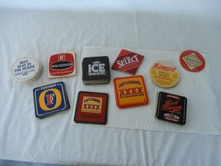 lARGE GROUPING OF BEER COASTER  NOS