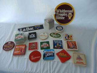 lARGE GROUPING OF BEER COllECTIBlES