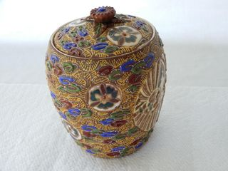 VINTAGE HAND MADE CHINESE BISCUIT BARREl