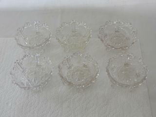 SET OF 6 GlASS COMPOTE DISHES