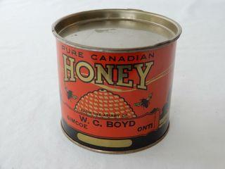 PURE CANADIAN HONEY SIMCOE ONT  2 lBS TIN