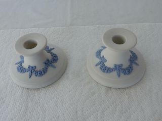 PAIR OF CANADIAN ART POTTERY CANDlE HOlDERS
