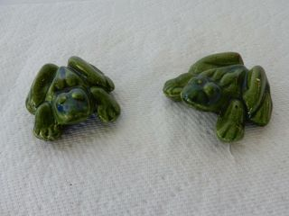 GROUPING OF 2 CERAMIC FROGS