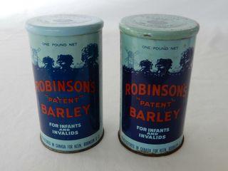 lOT 2 ROBINSON S PATENT BARlEY ONE POUND TINS