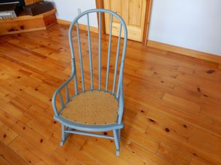 PAINTED WOODEN ROCKING CHAIR  NEW