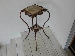 CAST STAND WITH MARBlE TOP