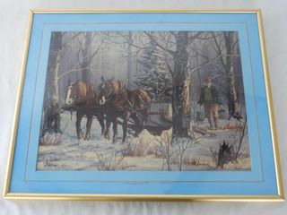FRAMED GIBBONS MAPlE SYRUP lIMITED EDITION PRINT