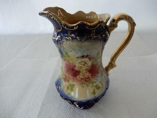 S F  CO  ORNATE WATER PITCHER