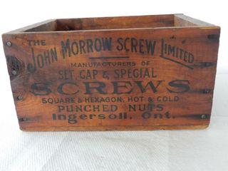 RARE JOHN MORROW SCREWS WOODEN BOX