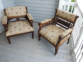 2 VICTORIAN PARlOR CHAIRS