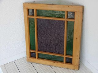 FRAMED STAINED GlASS STYlE WINDOW HANGER