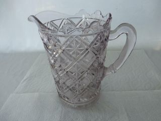 CRYSTAl STAR PATTERN WATER PITCHER