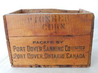 PIONEER CORN PORT DOVER  ONT  CANADA WOODEN BOX