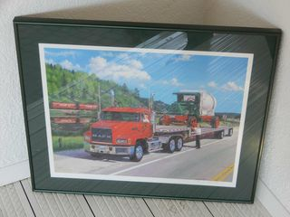 FRAMED lARRY lOWTHER MACK TRUCKS SIGNED PICTURE