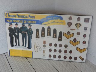 ONTARIO PROVINCIAl POlICE MEDAlS   BADGES PRINT