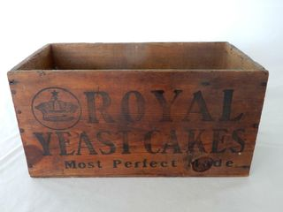 ROYAl YEAST CAKES WOODEN BOX