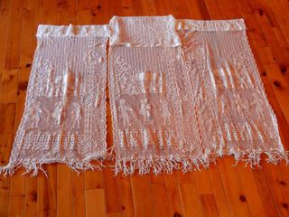 lOT OF 3 FRENCH DOOR COVERS